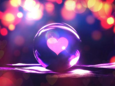 Valentine's Day Ideas - A Heart Contained Within a Crystal Ball