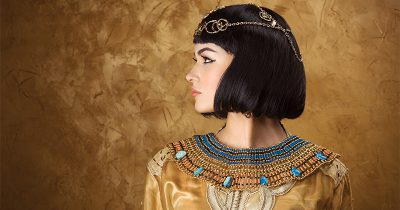 Woman dressed as Cleopatra