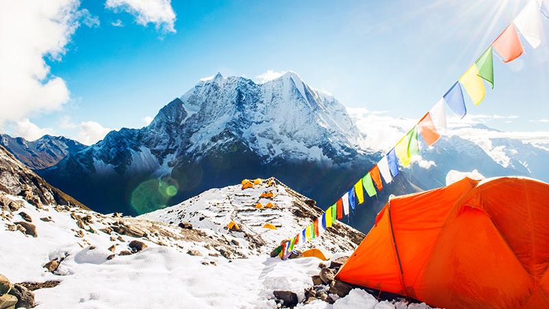 Tent erected at the Everest base camp