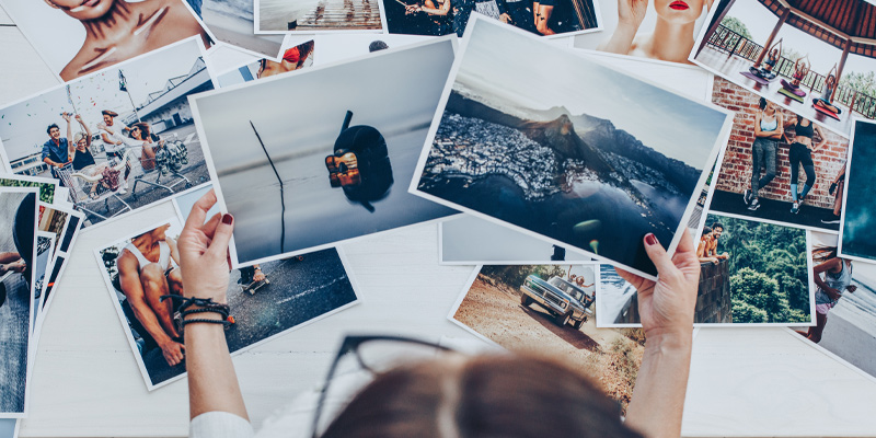 Photographer using her photography starter kit to create a selection of images she now edits