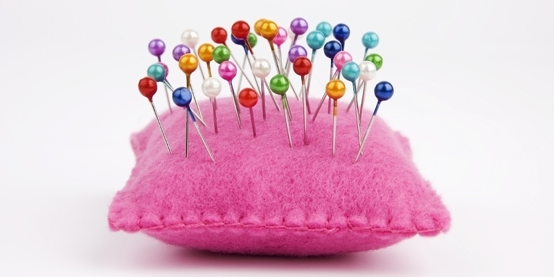 A pin cushion resulting from a how to sew guide on making a pin cushion.