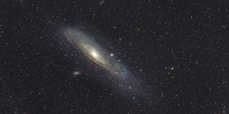 The Andromeda galaxy, a galaxy in the local group, alongside the Milky Way.
