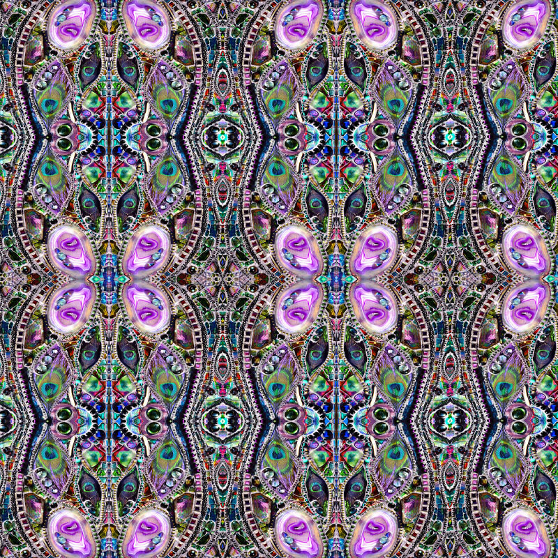 An example of a pattern in Nikki Whitlock's work that is inspired by sacred geometry.