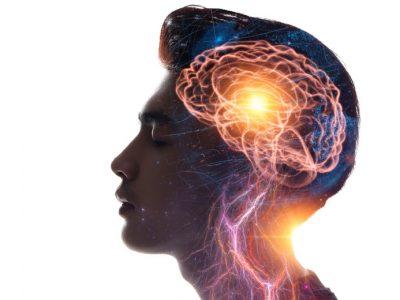 Concept art of a man practising memorisation and mentalism.